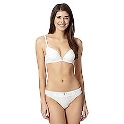 B by Ted Baker - Ivory pleated satin edge plunge bra