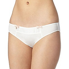 B by Ted Baker - Ivory pleated satin panel hipster briefs
