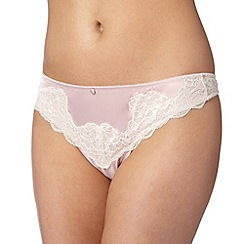Reger by Janet Reger - Designer light pink lace detail thong