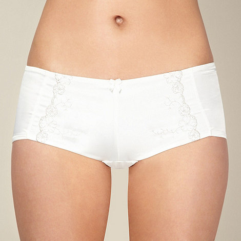 Reger by Janet Reger - Ivory satin bridal shorts