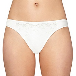 Reger by Janet Reger - Ivory satin bridal thong