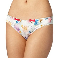 B by Ted Baker - Pale green sugar sweet floral bikini briefs