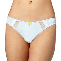 B by Ted Baker - Light blue satin thong