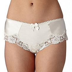 Reger by Janet Reger - Designer ivory embroidered bridal shorts