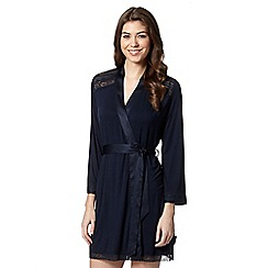 B by Ted Baker - Navy lace trim jersey wrap