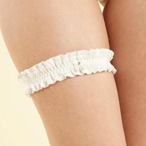 Reger by Janet Reger - Ivory frilled bridal garter