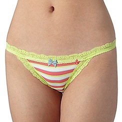 Iris & Edie - Pink striped hipster briefs