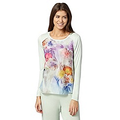 B by Ted Baker - Pale green sugar sweet floral long sleeve pyjama top
