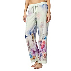 B by Ted Baker - Pale green sugar sweet floral pyjama bottoms