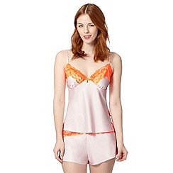 B by Ted Baker - Pale pink satin lace cami and shorts set