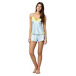 B by Ted Baker - Pale blue satin lace pyjama set