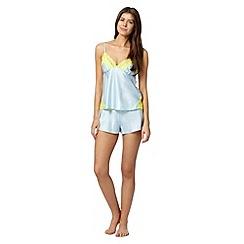 B by Ted Baker - Pale blue satin lace pyjama set