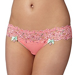 Floozie by Frost French - Dark peach printed lace briefs