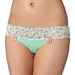Floozie by Frost French - Light green printed lace briefs
