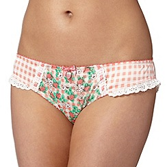 Floozie by Frost French - Pink strawberry print hipster briefs