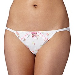 Floozie by Frost French - White embroidered tanga