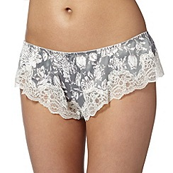 Reger by Janet Reger - Designer grey printed french knickers