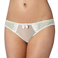 Reger by Janet Reger - Designer pale green mesh pleat briefs