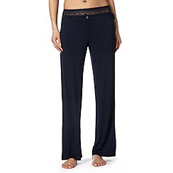 B by Ted Baker - Navy jersey lace pyjama bottoms