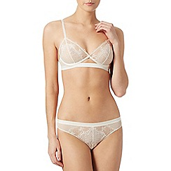 Passionata - Ivory 'Double Play' lace triangle bra