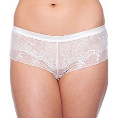 Passionata - Ivory 'Double Play' embroidered lace shorts