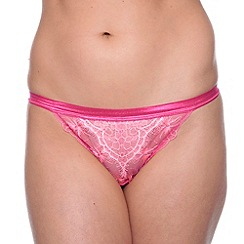 Passionata - Pink 'Double Play' lace tanga thong