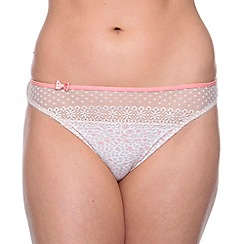 Passionata - Taupe animal printed brazilian briefs