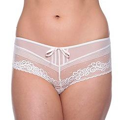 Passionata - White coquette lace bow shorts