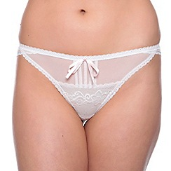 Passionata - White 'Miss Coquette' lace bow tanga briefs