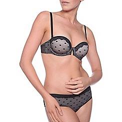 Passionata - Black coquette spotted lace bra