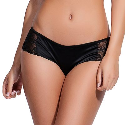 Bluebella Black ´Desire´ lace and satin low rise briefs - . -