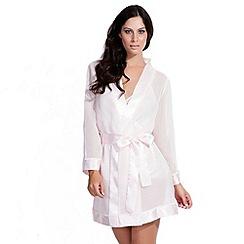 Bluebella - Pale pink satin trim kimono