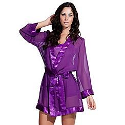 Bluebella - Purple sheer chiffon kimono
