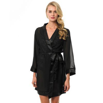 Bluebella Black sheer chiffon kimono - . -