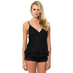 Bluebella - Black 'Anais' cami and shorts set
