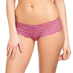 b.tempt'd - Pink 'Ciao Bella' lace tanga briefs
