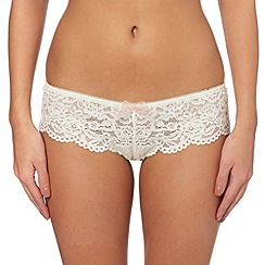 b.tempt'd - Ivory 'Ciao Bella' lace tanga briefs