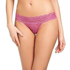 b.tempt'd - Pink 'Kiss' lace bikini briefs