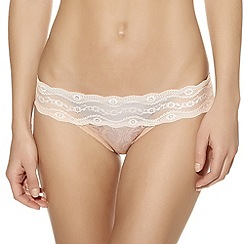 b.tempt'd - Ivory 'Kiss' lace bikini briefs