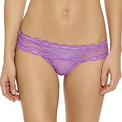 b.tempt'd - Lilac 'Kiss' lace thong