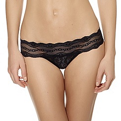 b.tempt'd - Black 'Kiss' lace thong