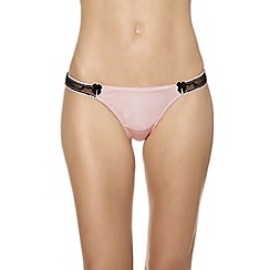 b.tempt'd - Pink 'Most Desired' satin thong