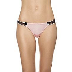 b.tempt'd - Pink 'Most Desired' satin thong