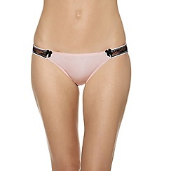 b.tempt'd - Pink 'Most Desired' satin bikini briefs