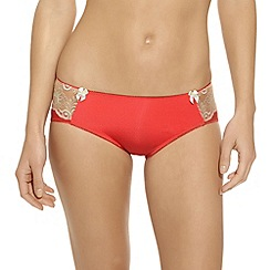 b.tempt'd - Orange 'Most Desired' satin hipster briefs