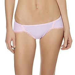 b.tempt'd - Light pink 'B. Natural' lace trimmed bikini briefs