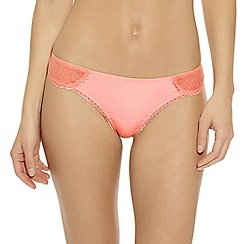 b.tempt'd - Peach 'B Awesome' lace thong