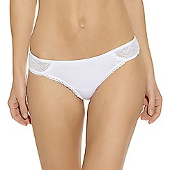b.tempt'd - White 'B.Awesome' thong