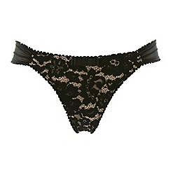 Rosy - Black 'L'Adorable' lace thong