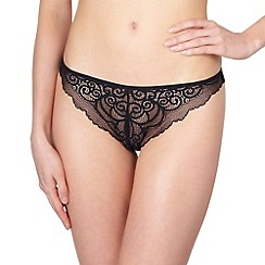 Rosy - Black 'L'Amour' tanga briefs